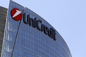 Italy's largest bank UniCredit is pictured in downtown Milan